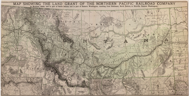 Northern Pacific Railroad Map Montana