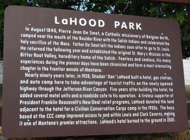 LaHood Park Historic Sign Montana