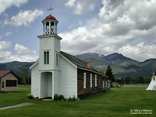 St. Mary's Mission Church Stevensville Montana