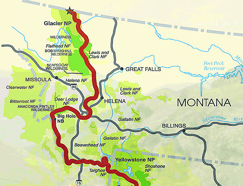 continental divide trail map montana