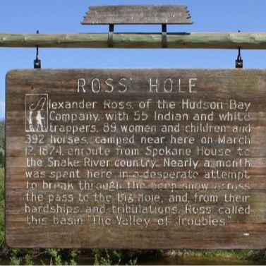 Ross' Hole Historical Marker