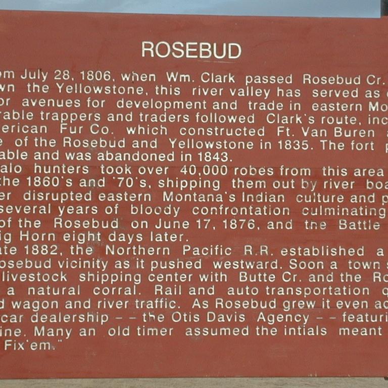 Rosebud - Historical Marker