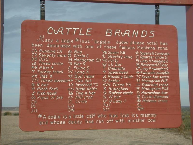 Cattle Brands - Historical Marker