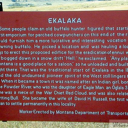 Ekalaka - Historical Marker