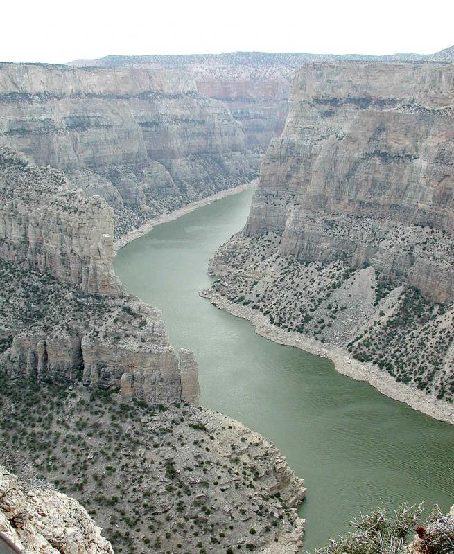 The Bighorn Canyon below Yellowtail Dam