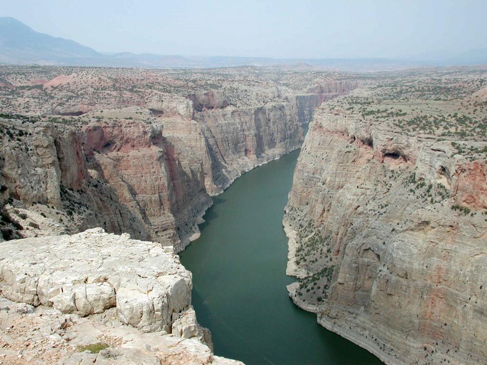 The Bighorn Canyon below Yellowtail Dam