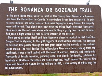 The Bonanzaor Bozeman Trail Big Timber Montana