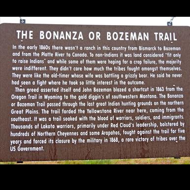 The Bonanza or Bozeman Trail
