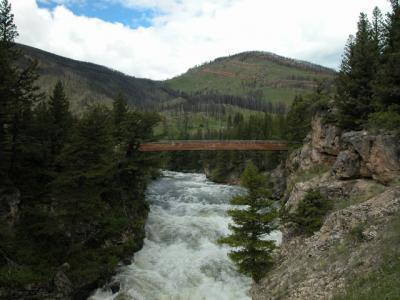 Natural Falls on the Boulder River South of Big Timber Montana