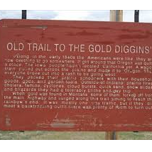 Old Trail to the Gold Diggins'