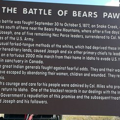 The Battle of Bears Paw Historical Marker