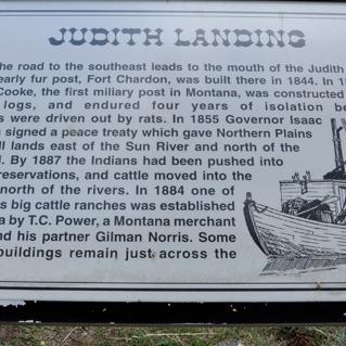The Judith Landing Historical Marker