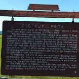 Old Fort Peck Historical Marker