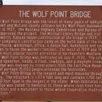 The Wolf Point Bridge Historical Marker