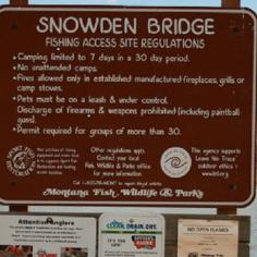 Snowden Bridge Historical Marker
