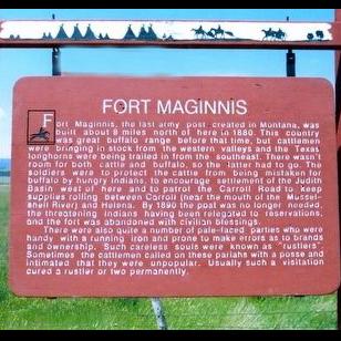 Fort Maginnis Historical Marker