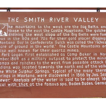 The Smith River Valley Historical Marker