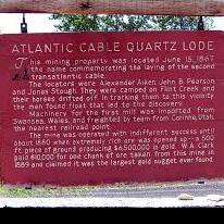 Atlantic Cable Quartz Lode Historic Marker