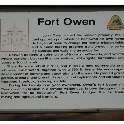 Fort Owen Monument State Park