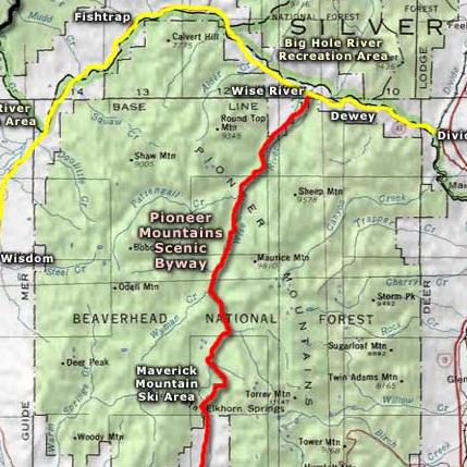 Beaverhead Scenic Loop  Pioneer Mountains National Scenic Byway